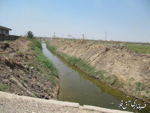اجرای عملیات لایروبی کانال های آبیاری روستایی به طول ۴۴ کیلومتر و با اعتبار ۴۵۰ میلیون تومان