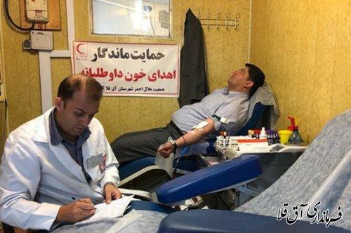 خدمت برای حفظ جان و حیات مردم با اهدای خون بالاترین خدمات است