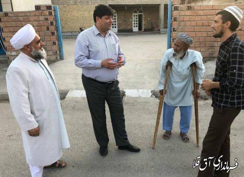 فرماندار شهرستان آق قلا از روستاهای کرد و شفتالو باغ سفلی بخش مرکزی بازدید بعمل آورد