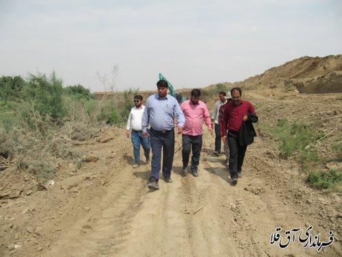 فرماندار شهرستان آق قلا از روند اجرای عملیات لایروبی رودخانه گرگانرود بازدید بعمل آورد