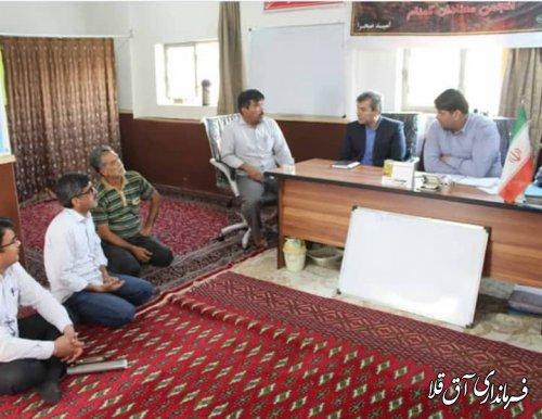 نماینده عالی دولت از روستاهای اوچ تپه و شفتالوباغ علیا شهرستان آق قلا بازدید میدانی بعمل آورد