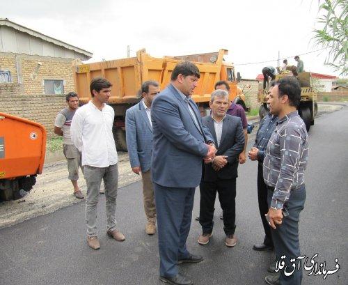 آسفالت چهار هزار و 600 متر مربع از معابر روستای قربان آباد بخش مرکزی با اعتبار 250 میلیون تومان