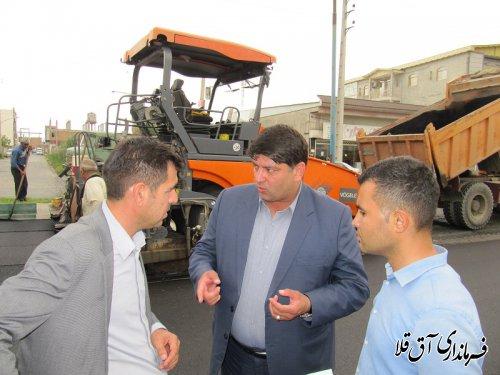 42 هزار متر مربع آسفالت در خیابان های معلم و شهید رجائی شهر آق قلا اجرا شد