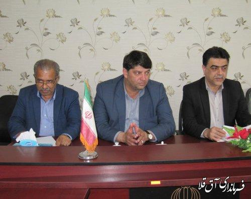 نشست مشترک فرماندار شهرستان آق قلا با مدیر کل آبفار استان در بخشداری وشمگیر برگزار شد