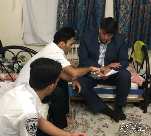 فرماندار شهرستان آق قلا از پایگاه اورژانس جاده ای روستای گری دوجی بخش مرکزی بازدید کرد