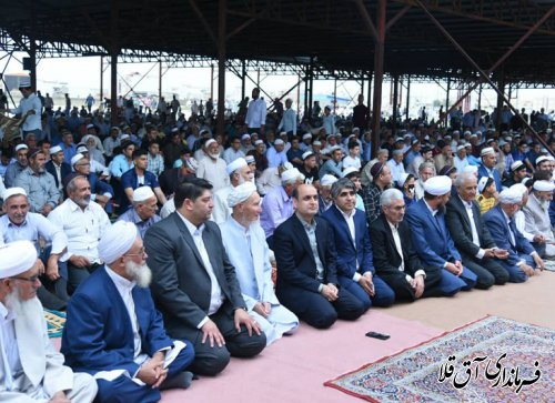 استاندار گلستان در نماز عید قربان شهر آق قلا حضور یافت