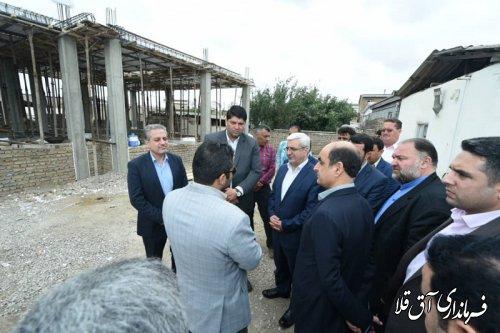 معاون سیاسی وزیر کشور از روند بازسازی مناطق سیل زده شهرستان آق قلا بازدید بعمل آورد