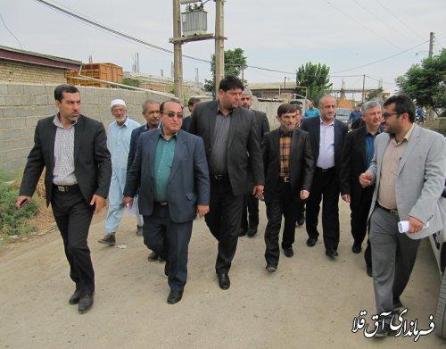 رئیس گروه اقتصادی دفتر مقام معظم رهبری از روند بازسازی مناطق سیل زده شهرستان آق قلا بازدید بعمل آورد