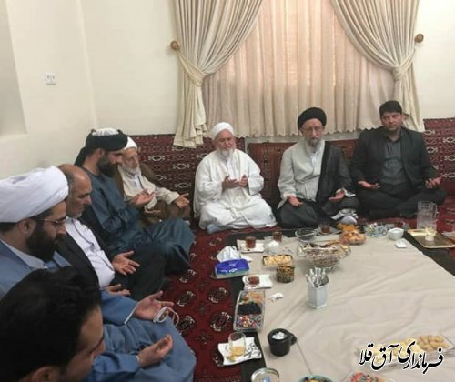 نماینده معزز ولی فقیه در استان با ائمه جمعه و روحانیون شهرستان آق قلا دیدار کرد