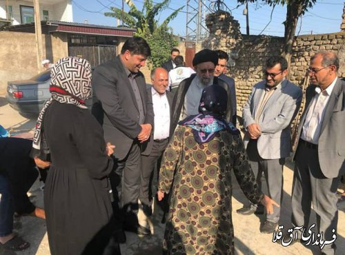 بازدید نماینده ولی فقیه در استان از روند بازسازی مناطق سیل زده شهرستان آق قلا