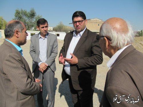 آغاز عملیات اجرایی احداث مدرسه امام رضا(ع)شهر آق قلا با اعتبار 10 میلیارد ریال