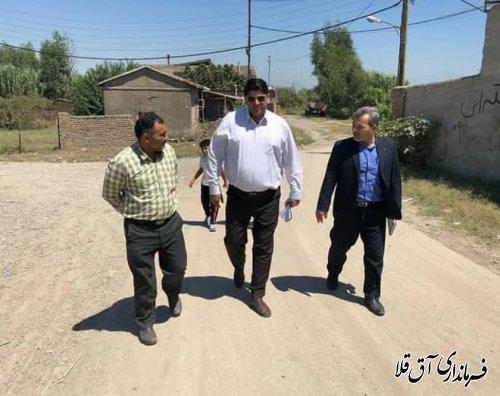 فرماندار شهرستان آق قلا از روستاهای حیدر آباد و خوجه توپ بازدید میدانی بعمل آورد