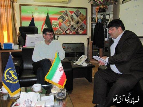 نشست مشترک فرماندار شهرستان آق قلا با رئیس سازمان جهاد کشاورزی استان برگزار شد