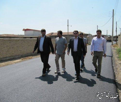 آسفالت 23 هزار متر مربع از معابر روستاهای شهرستان آق قلا با اعتبار 12 میلیارد ریال