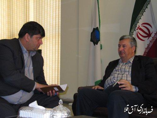 فرماندار شهرستان آق قلا با معاون هماهنگی امور عمرانی استاندار گلستان دیدار کرد