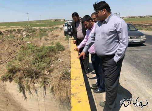 فرماندار شهرستان آق قلا از عملیات اجرایی لایروبی رودخانه گرگانرود بازدید بعمل آورد
