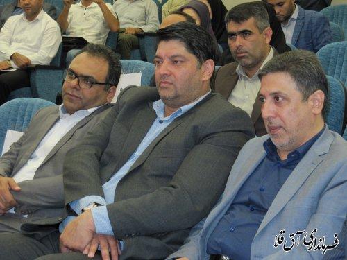 آئین افتتاح متمرکز پروژه های گرامیداشت هفته دولت شهرستان آق قلا برگزار شد