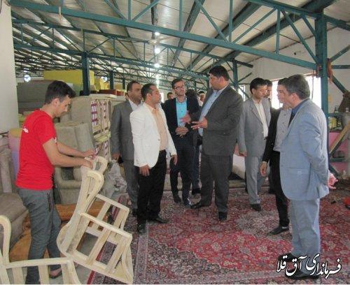 کارگاه تولیدی مبل و صنایع چوب با سرمایه گذاری ۴۰ میلیارد ریال بخش خصوصی در شهرک صنعتی آق قلا افتتاح شد