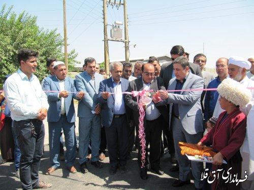 پروژه های عمرانی گرامیداشت هفته دولت بصورت متمرکز در روستای سیل زده چن سولی شهرستان آق قلا افتتاح شد