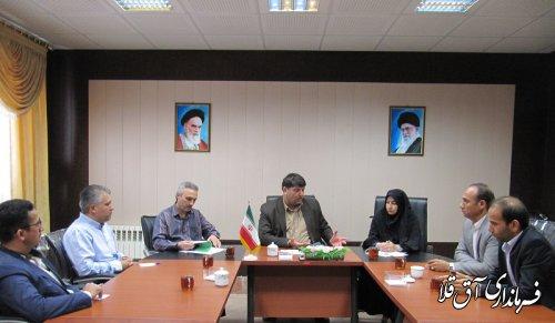 نشست مشترک فرماندار شهرستان آق قلا با مدیر کل دفتر امور شهری و شوراهای استانداری برگزار شد