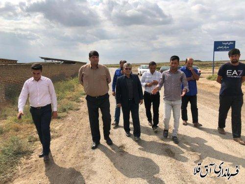 بازدید میدانی فرماندار  آققلا از روستاهای شهرستان