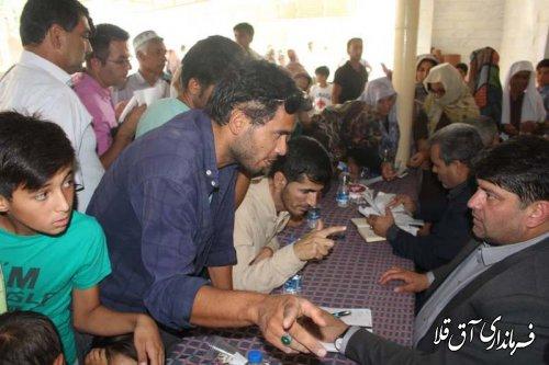 چهارمین میز خدمت در روستای سیل زده قانقرمه شهرستان آق قلا برگزار شد