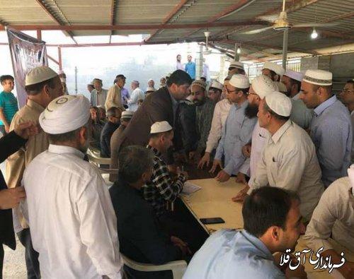میز خدمت و دیدار چهره به چهره با مردم در حوزه علمیه عرفانی شهر آق قلا برگزار شد