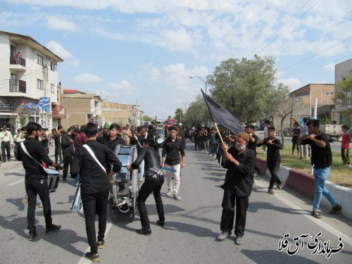 مراسم دسته روی و عزاداری دهه محرم در شهر آق قلا برگزار شد
