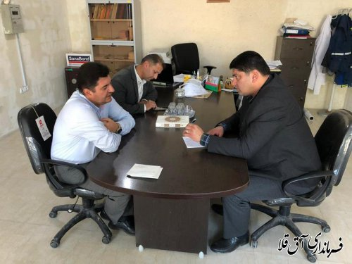 بازدید سرزده فرماندار آق قلا از اداره دامپزشکی شهرستان