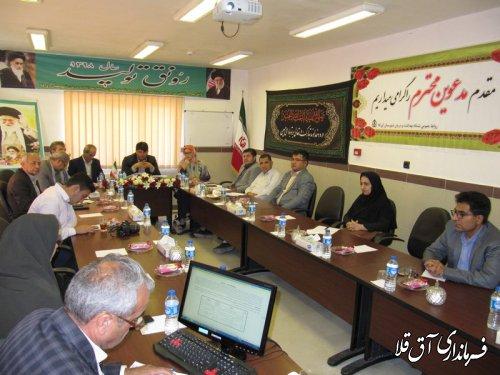 چهارمین جلسه کارگروه تخصصی سلامت و امنیت غذایی شهرستان آق قلا برگزار شد
