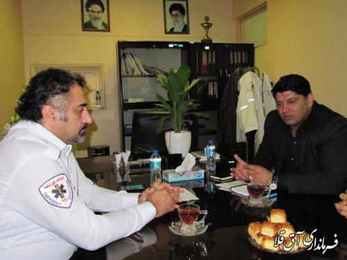 فرماندار شهرستان آق قلا با سرپرست فوریتهای پزشکی گلستان نشست مشترک برگزار کرد