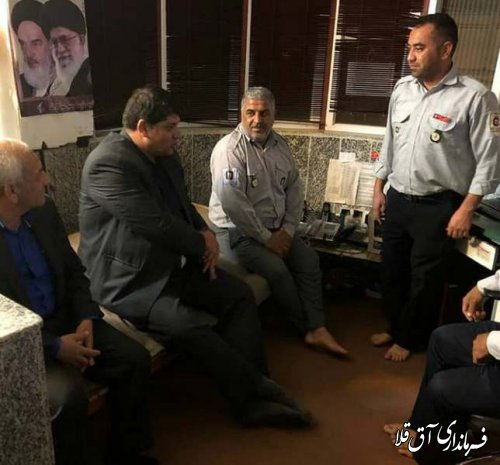 نماینده عالی دولت با پرسنل پایگاه آتش نشانی شهر آق قلا دیدار کرد