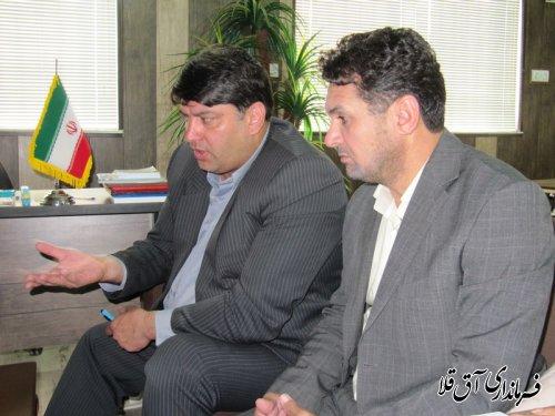 فرماندار شهرستان آق قلا بصورت سرزده از اداره ورزش و جوانان بازدید بعمل آورد