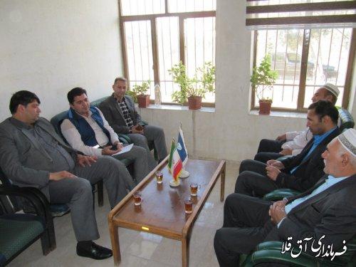 نماینده عالی دولت با مجموعه دامپزشکی شهرستان آق قلا دیدار کرد