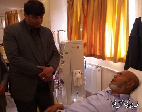 فرماندار شهرستان آق قلا از بیمارستان آل جلیل بازدید بعمل آورد