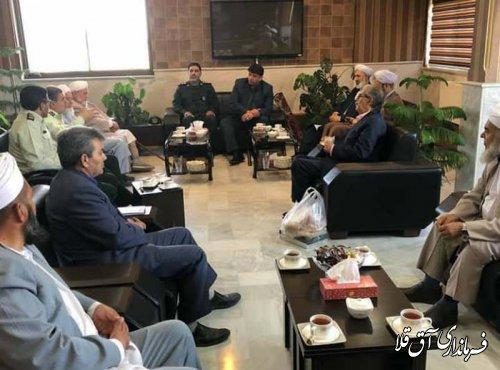 فرماندار و رئیس شورای تامین شهرستان آق قلا با فرمانده انتظامی استان دیدار کرد