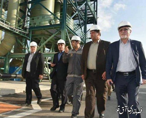 استاندار گلستان از واحد تولیدی شورآبه ید شهرستان آق قلا بازدید بعمل آورد