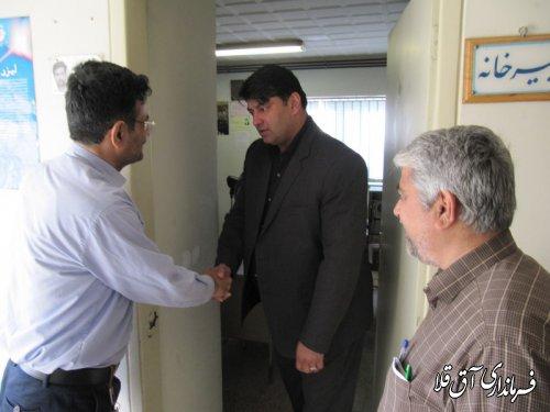 فرماندار بصورت سرزده از اداره مخابرات شهرستان آق قلا بازدید کرد