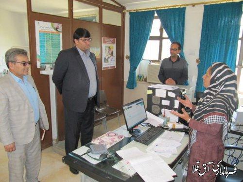 بازدید سرزده فرماندار شهرستان آق قلا از خانه بهداشت روستای سقر یلقی