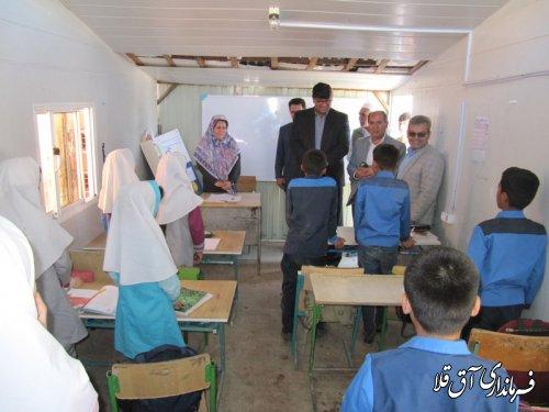 فرماندار شهرستان آق قلا از دبستان ابوحنیفه روستای سقر یلقی بازدید بعمل آورد