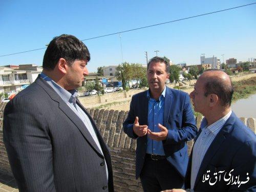 آغاز نقشه برداری پروژه لایروبی رودخانه گرگانرود در شهر آق قلا