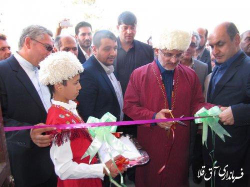 کارگاه صنایع چوب و مبلمان روستای عطا آباد شهرستان آق قلا به بهره برداری رسید