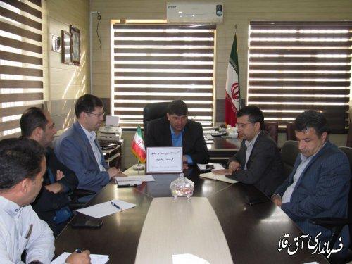 جلسه توسعه فضای سبز شهرستان آق قلا برگزار شد
