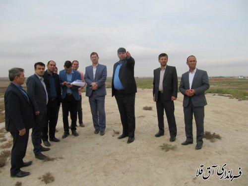 فرماندار شهرستان آق قلا از محل پروژه دایک حفاظتی و کمربند سبز بازدید کرد
