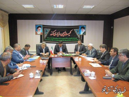سومین جلسه کارگروه تخصصی گندم،آرد و نان شهرستان آق قلا برگزار شد