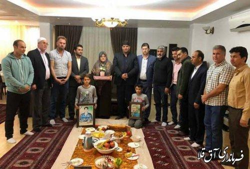 نماینده عالی دولت با خانواده ورزشکاران فقید شهرستان آق قلا دیدار کرد