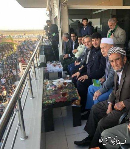 هفته نهم مسابقات سوارکاری کورس پائیزه شهرستان آق قلا برگزار شد