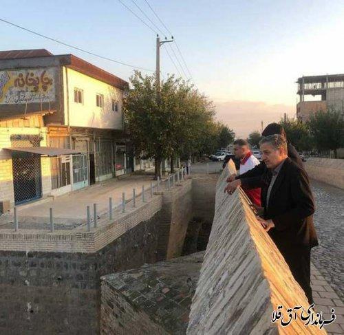 معاون سیاسی،امنیتی و اجتماعی استاندار گلستان از عملیات لایروبی رودخانه گرگانرود بازدید بعمل آورد