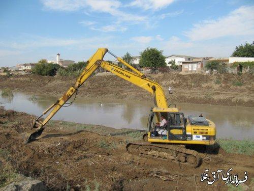 فاز اول لایروبی رودخانه گرگانرود بطول 2.5 کیلومتر در حال اجرا است