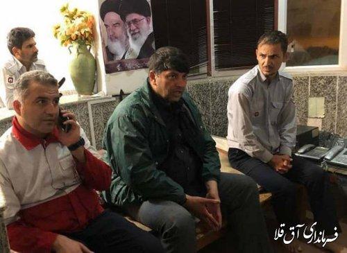 بازدید فرماندار و رئیس ستاد مدیریت بحران شهرستان آق قلا از دستگاههای امدادی و خدمات رسان